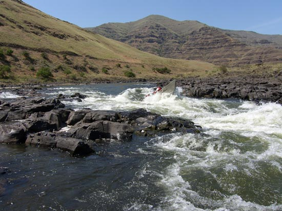 The Rapids we will run on the Grande Ronde River while smallmouth bass fishing
