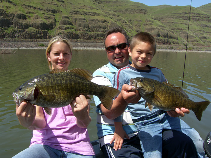 Toby and Family with Snake River Smallmouth