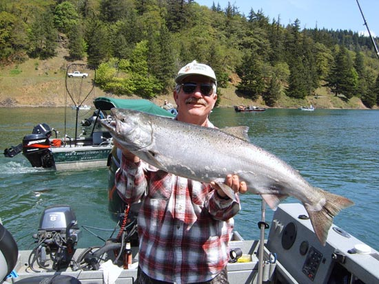 Dale McGreer with a Drano Lake Springer