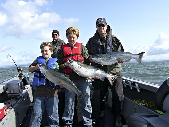 Jolly boys with Columbia River Coho