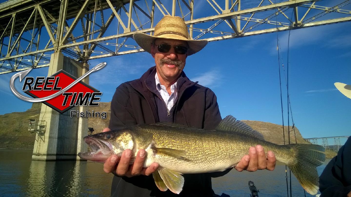 Walleye fishing guides reel time fishing for Washington river fishing reports