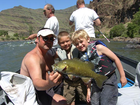 Carson and Spencer with a lunker